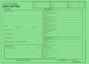 Miller Heiman Green Sheet